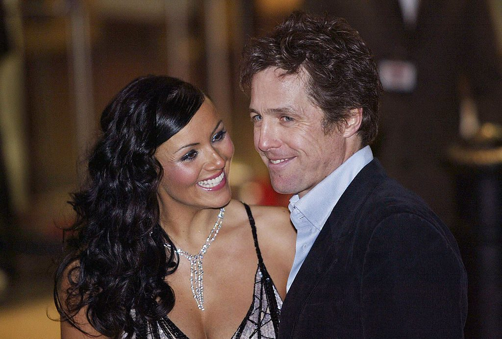 Hugh Grant and Martine McCutcheon at the UK premiere of 'Love Actually'