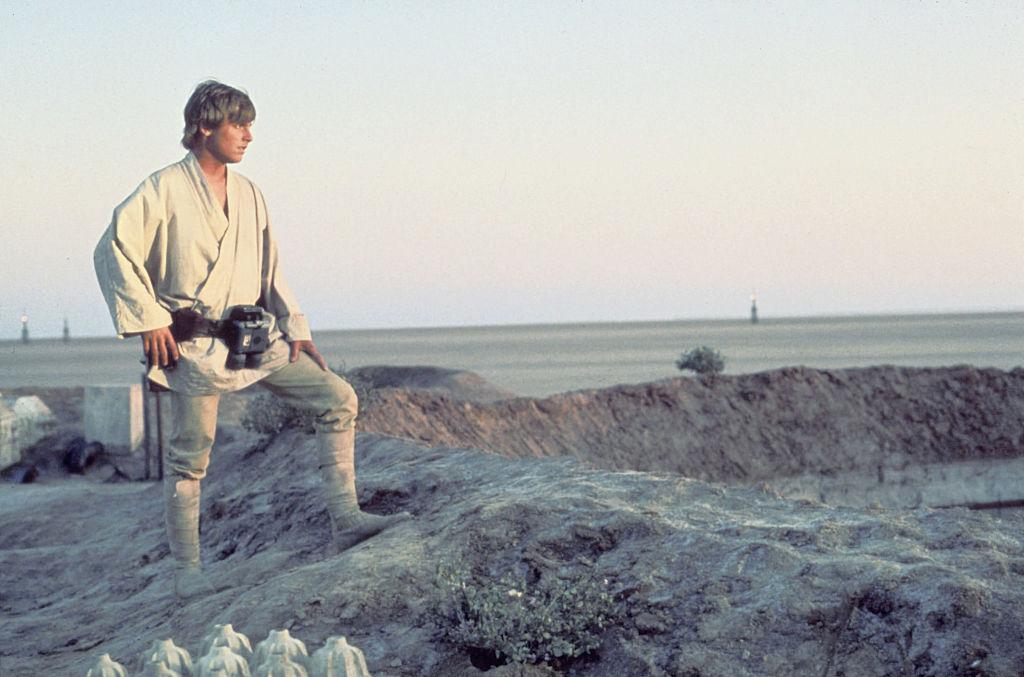 Luke Skywalker in white