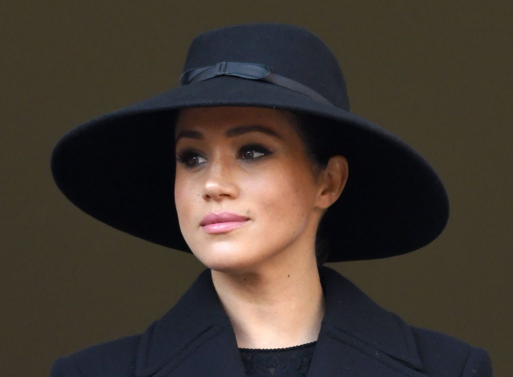 Meghan, Duchess of Sussex attends the annual Remembrance Sunday memorial.