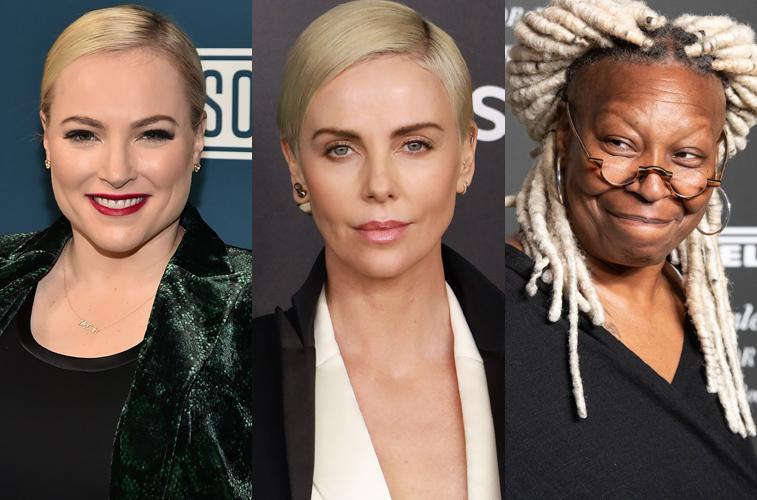 Meghan McCain, Charlize Theron, and Whoopi Goldberg