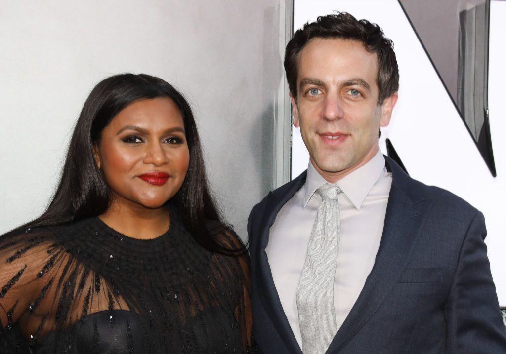 Mindy Kaling and B.J. Novak at the premiere of 'Late Night' on May 30, 2019
