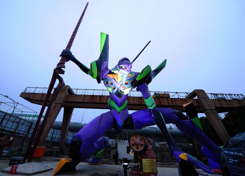 Evangelion Unit 01, a character from Japanese anime TV series Neon Genesis Evangelion