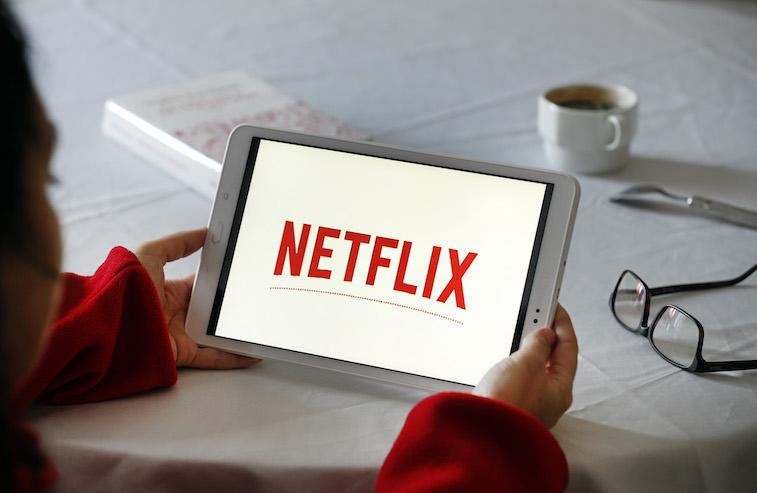 Netflix logo on a phone screen
