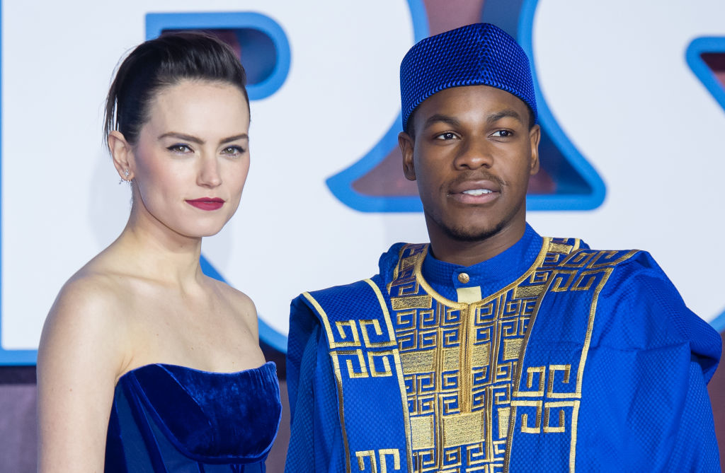 John Boyega and Daisy Ridley at the European premiere for 'Star Wars: The Rise of Skywalker.'