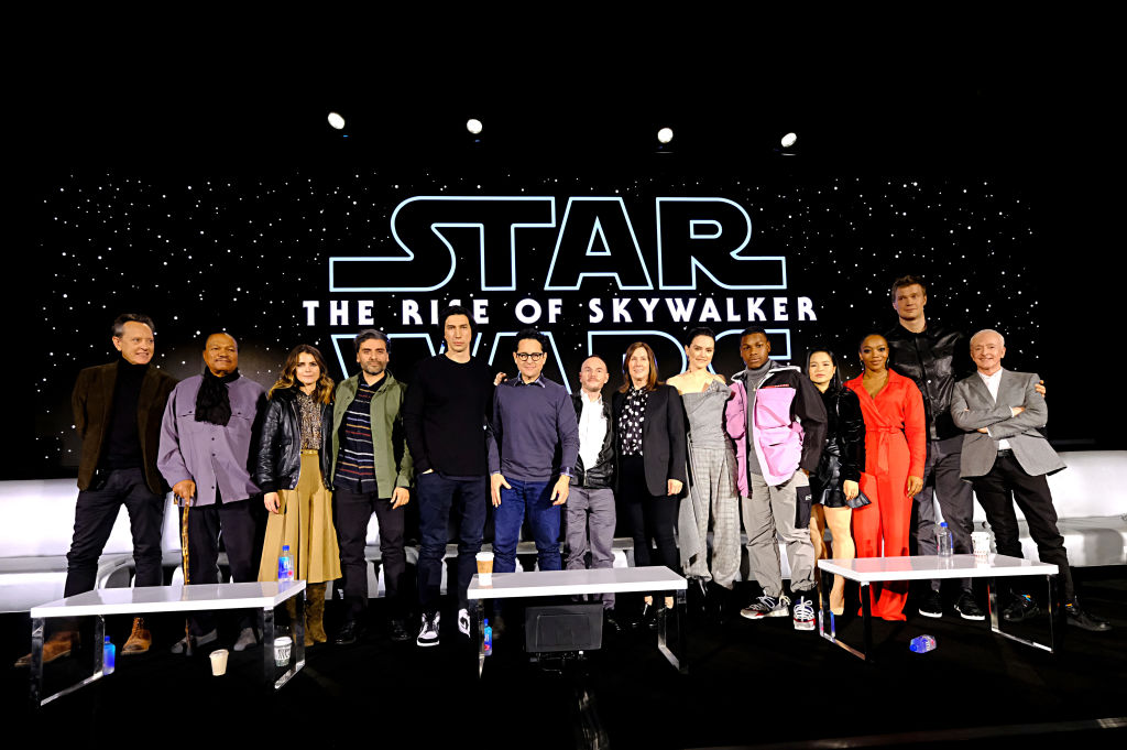 The cast and creators of 'The Rise of Skywalker' doing press for the upcoming film.