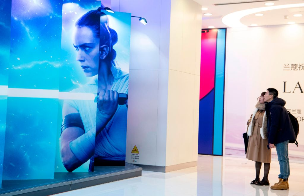 Promotional photo for 'The Rise of Skywalker' at a mall in Beijing.