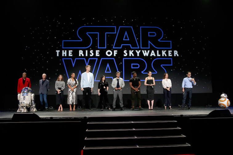 The cast of The Rise of Skywalker