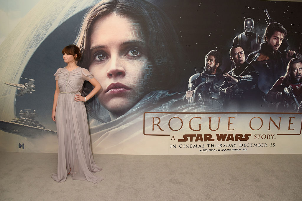 Felicity Jones at a screening of 'Rogue One: A Star Wars Story,' December 13, 2016.