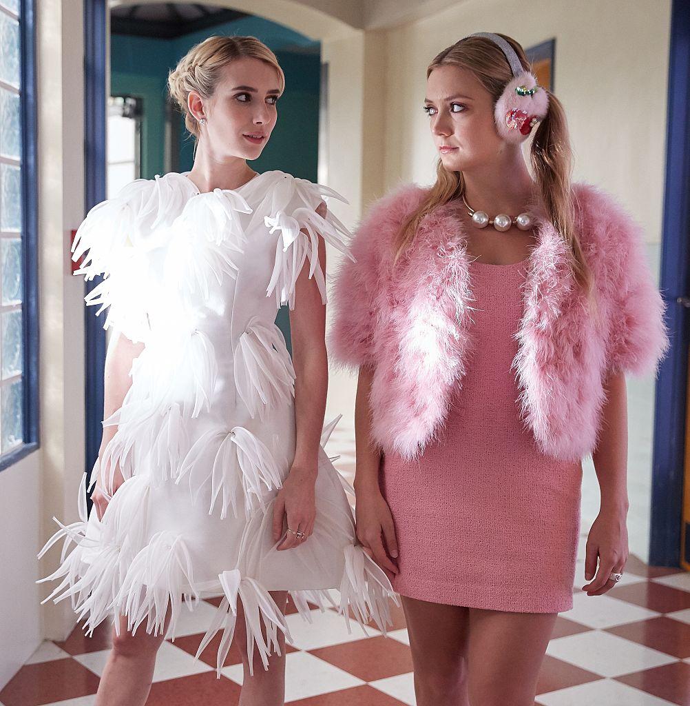 Emma Roberts and Billie Lourd in Season 2 of 'Scream Queens.'