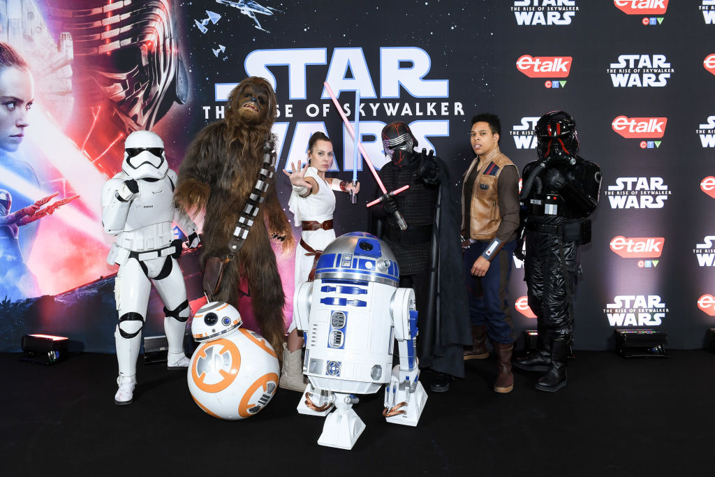 The characters of 'Star Wars: The Rise of Skywalker' pose at the Canadian premiere for the film.