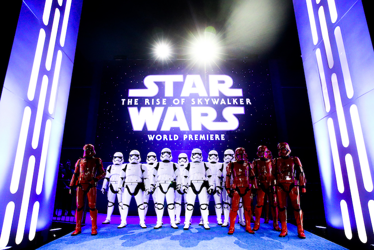 Stormtroopers at the Rise of Skywalker premiere