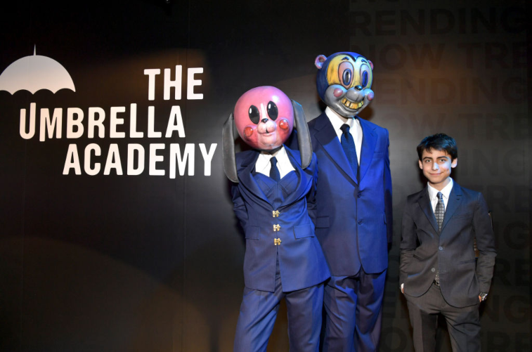 Aidan Gallagher at 'Umbrella Academy' screening