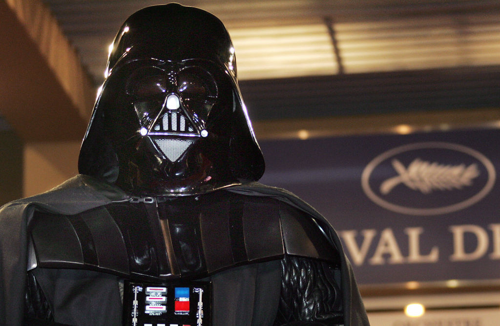 Darth Vader at a screening for 'Star Wars : Episode III - Revenge of the Sith' at the 58th edition of the Cannes International Film Festival in 2005.