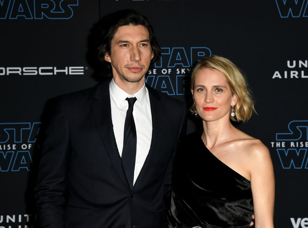 Adam Driver and Joanne Tucker at the premiere of 'Star Wars: The Rise of Skywalker'