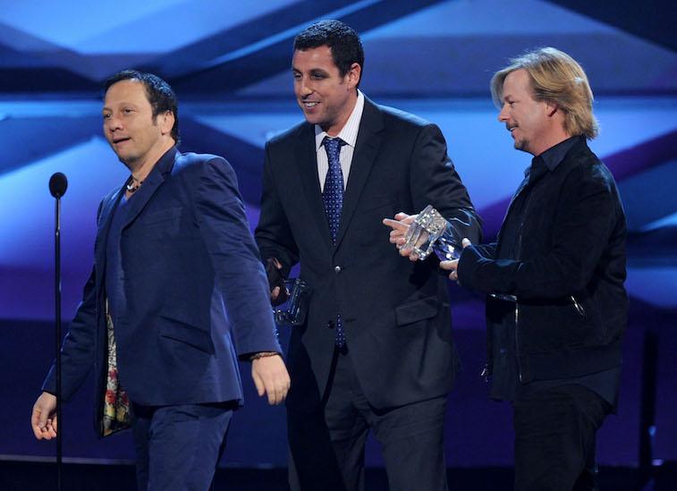 Rob Schneider, Adam Sandler and David Spade