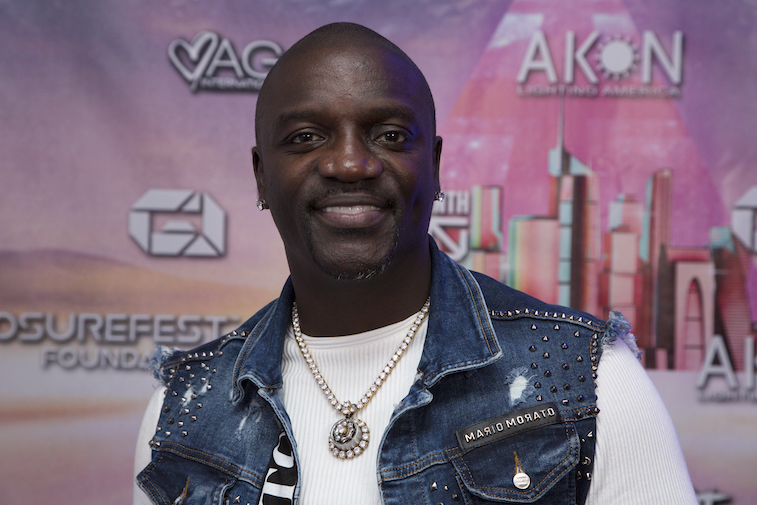 Akon on the red carpet