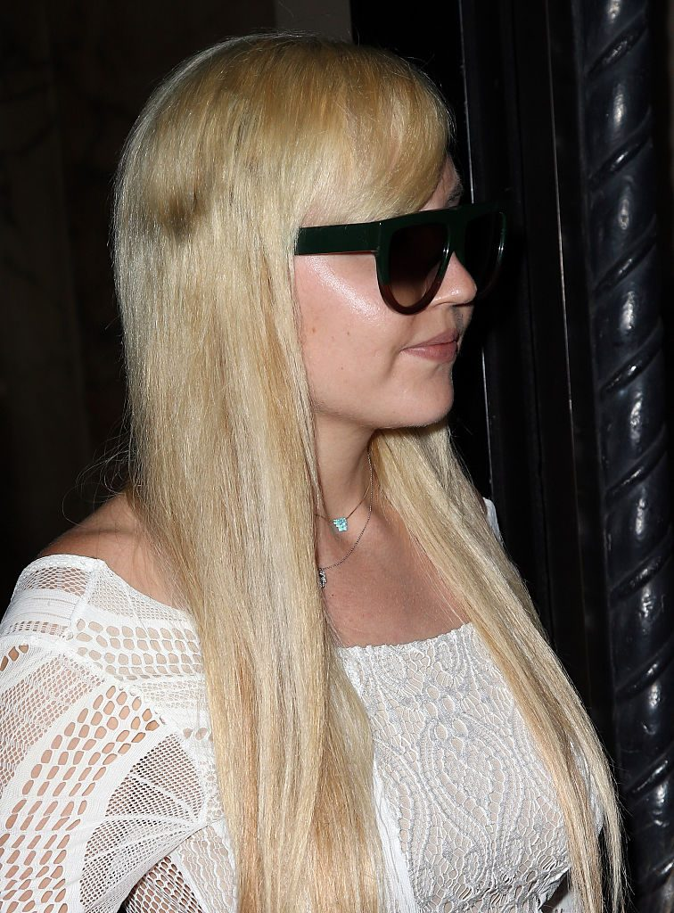 Amanda Bynes attends the Michael Costello and Style PR Capsule Collection launch party o