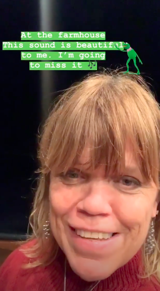 Amy Roloff's Instagram Story about Roloff Farms