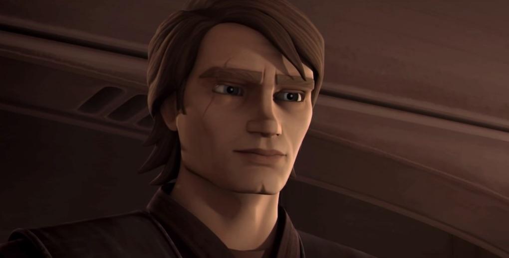 "Anakin Skywalker in the Season 3 finale of 'The Clone Wars,' ""Wookie Hunt."""
