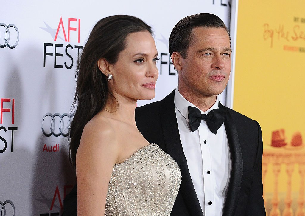 """Angelina Jolie and Brad Pitt attend the premiere of """"By the Sea"""" at the 2015 AFI Fest at TCL Chinese 6 Theatres"""
