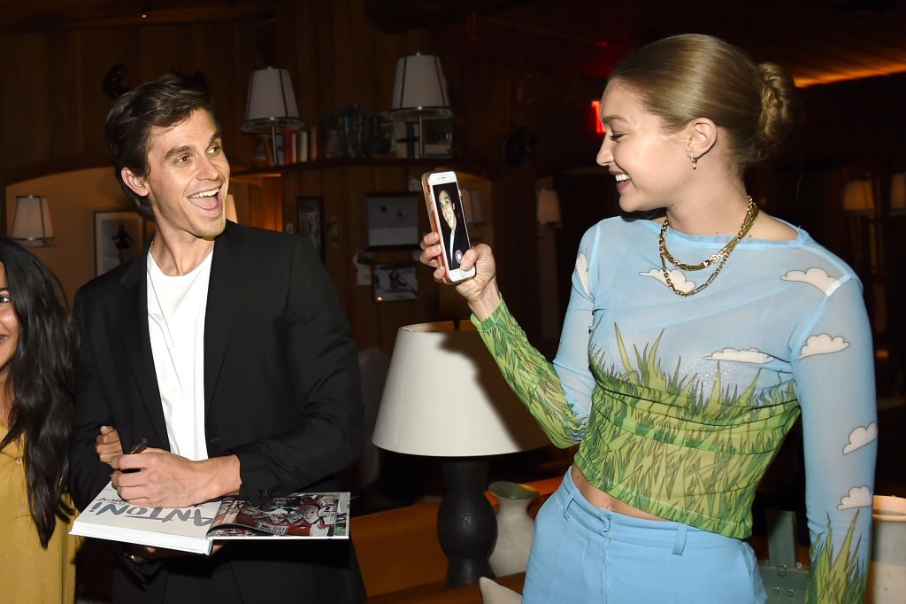 Antoni Porowski and Gigi Hadid attend Antoni Porowski Celebrates The Launch Of 'Antoni In The Kitchen'