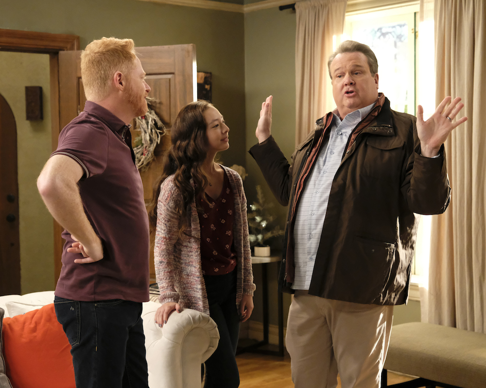 Aubrey Anderson-Emmons with Jesse Tyler Ferguson and Eric Stonestreet