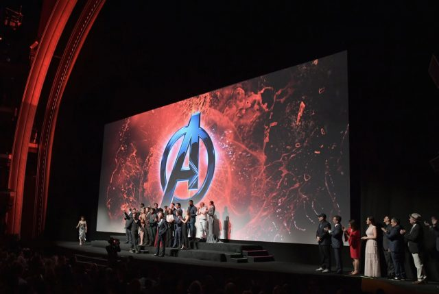 The cast and crew of 'Avengers: Infinity War' at the premiere