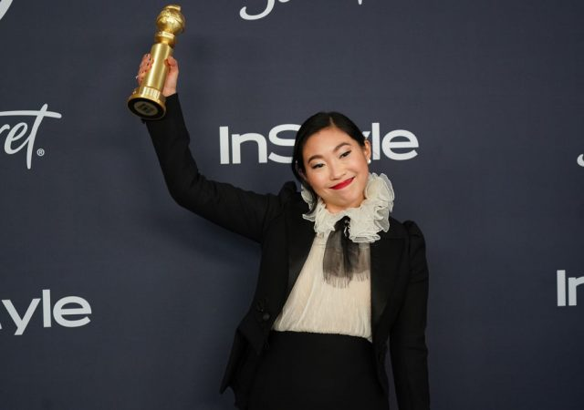 Awkwafina at a Golden Globe after party