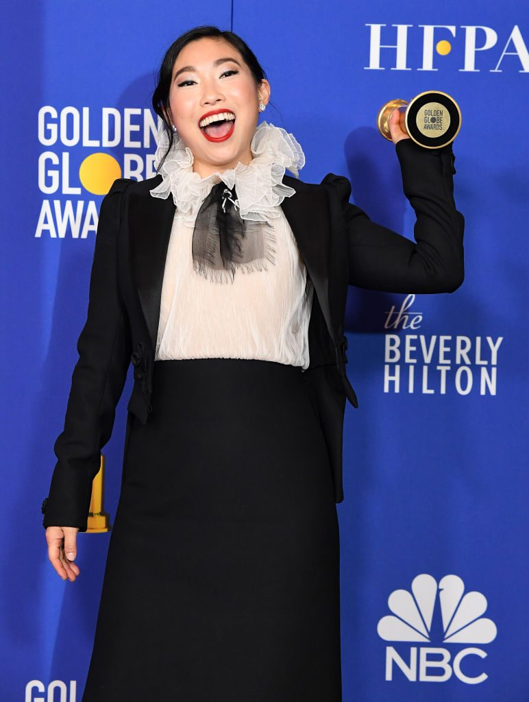 Awkwafina at the Golden Globes