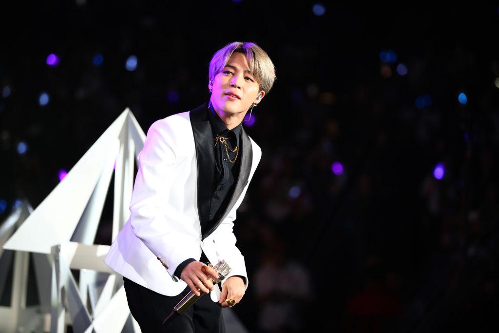 BTS Jimin silver hair
