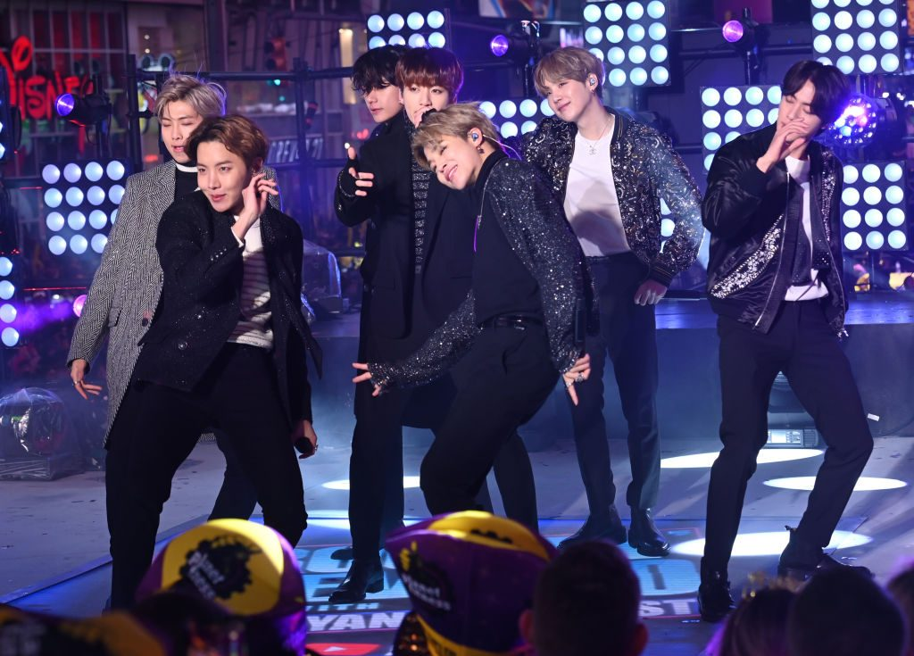BTS performs during Dick Clark's New Year's Rockin' Eve With Ryan Seacrest