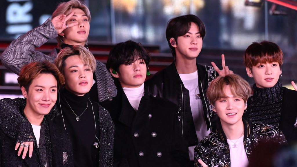 BTS performs during Dick Clark's New Year's Rockin' Eve With Ryan Seacrest 2020 on December 31, 2019 in New York City.