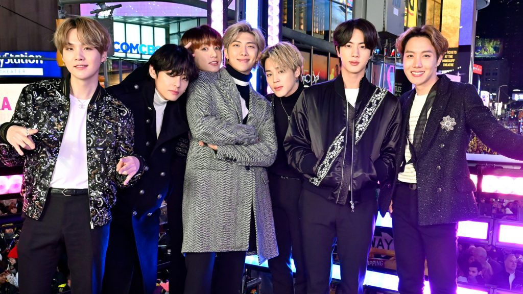 BTS at Dick Clark's New Year's Rockin' Eve with Ryan Seacrest 2020