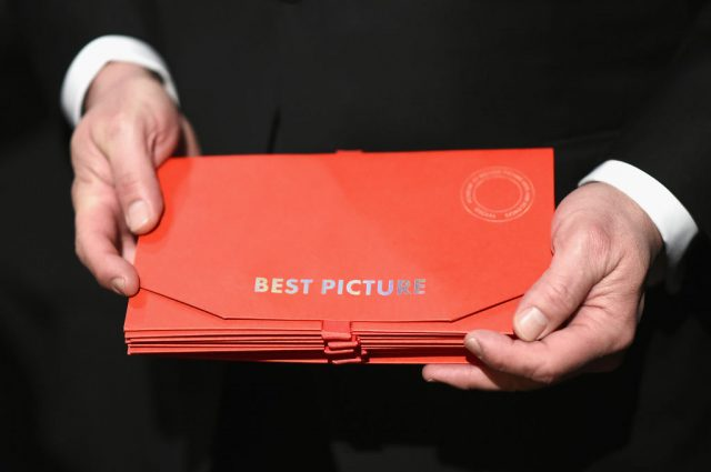 The envelope for Best Picture backstage at the Academy Awards