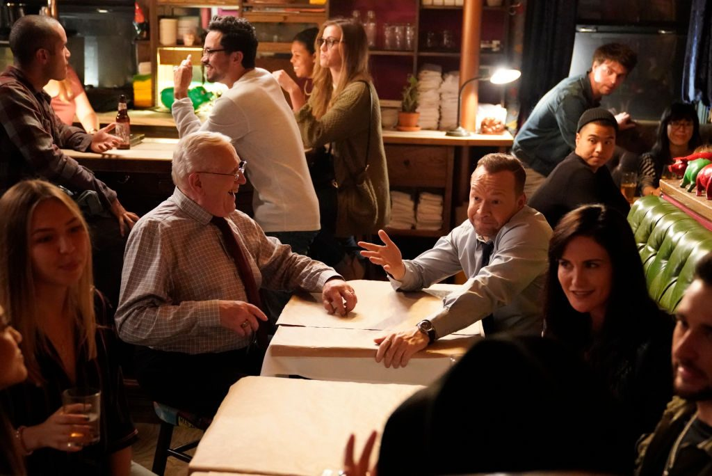 Len Cariou as Henry Reagan, Donnie Wahlberg as Danny Reagan on 'Blue Bloods'