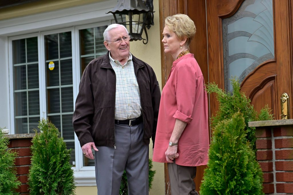 Len Cariou as Henry Reagan, Erika Slezak as Donna Duvall on 'Blue Bloods'