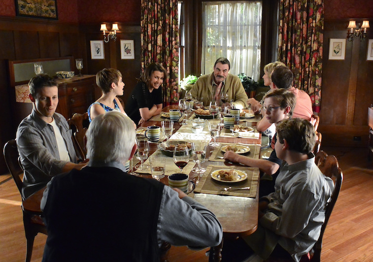 The Reagan family at dinner on Blue Bloods