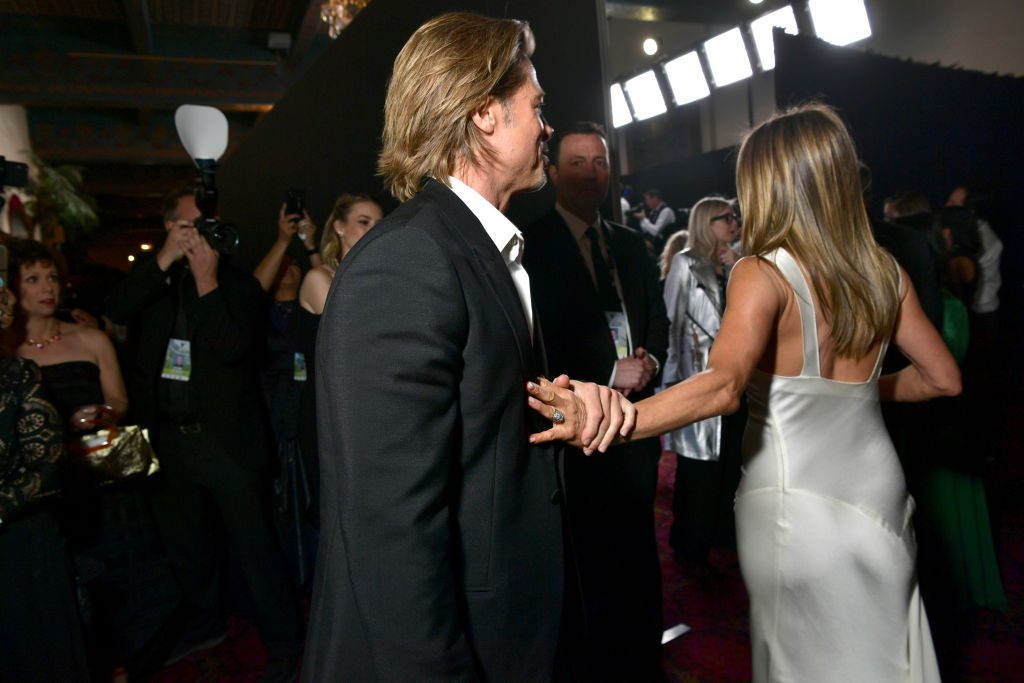 Brad Pitt and Jennifer Aniston attend the 26th Annual Screen ActorsGuild Awards at The Shrine Auditorium on January 19, 2020