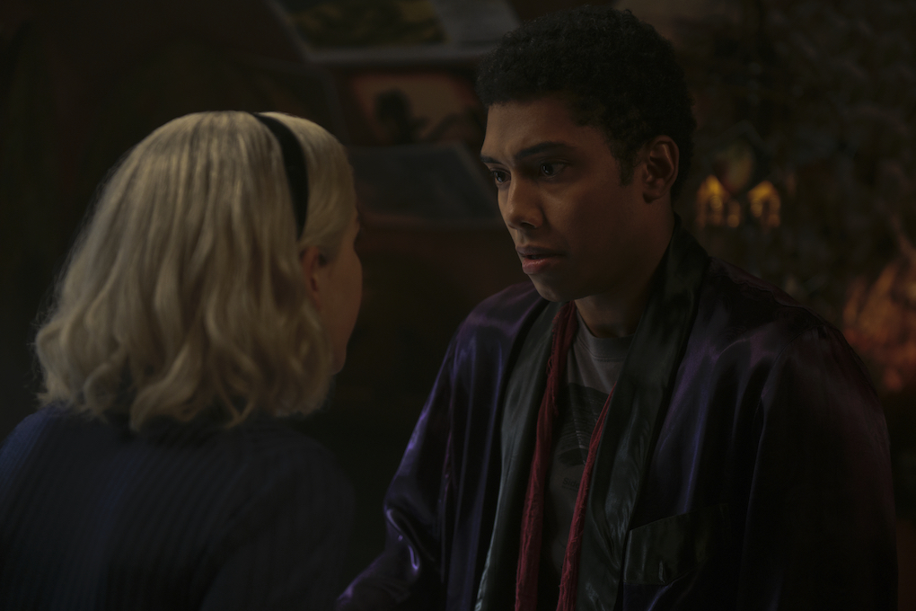 Ambrose and Sabrina talk in Part 2, Chapter 16, 'CHILLING ADVENTURES OF SABRINA.'