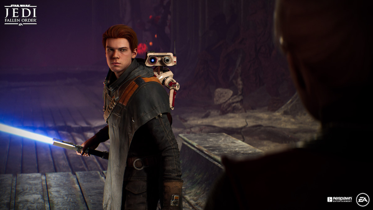 Cal Kestis (played by Cameron Monaghan) in the game, 'Jedi: Fallen Order.'