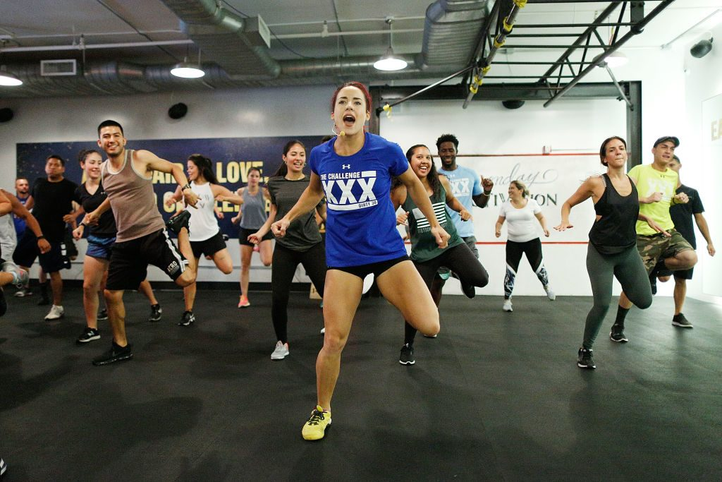 Cara Maria Sorbello leads a class during 'The Challenge XXX': Ultimate Fan Experience
