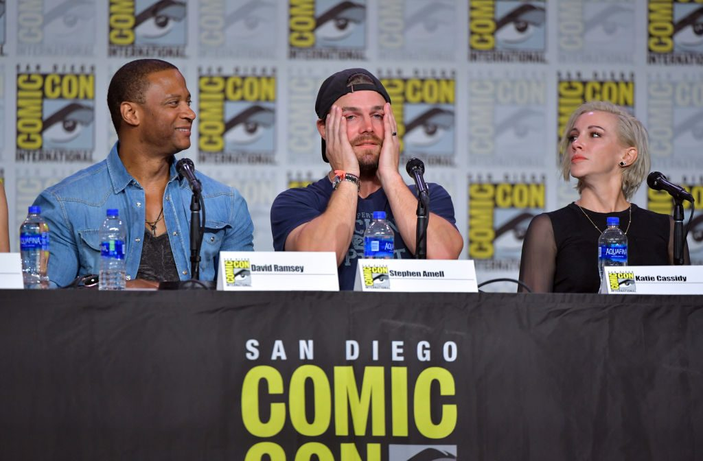 The cast of 'Arrow' at a San Diego Comic-Con panel