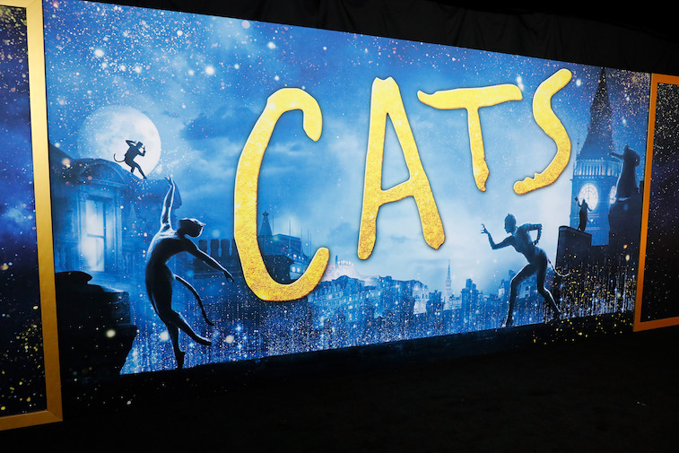 Poster at the Cats world premiere
