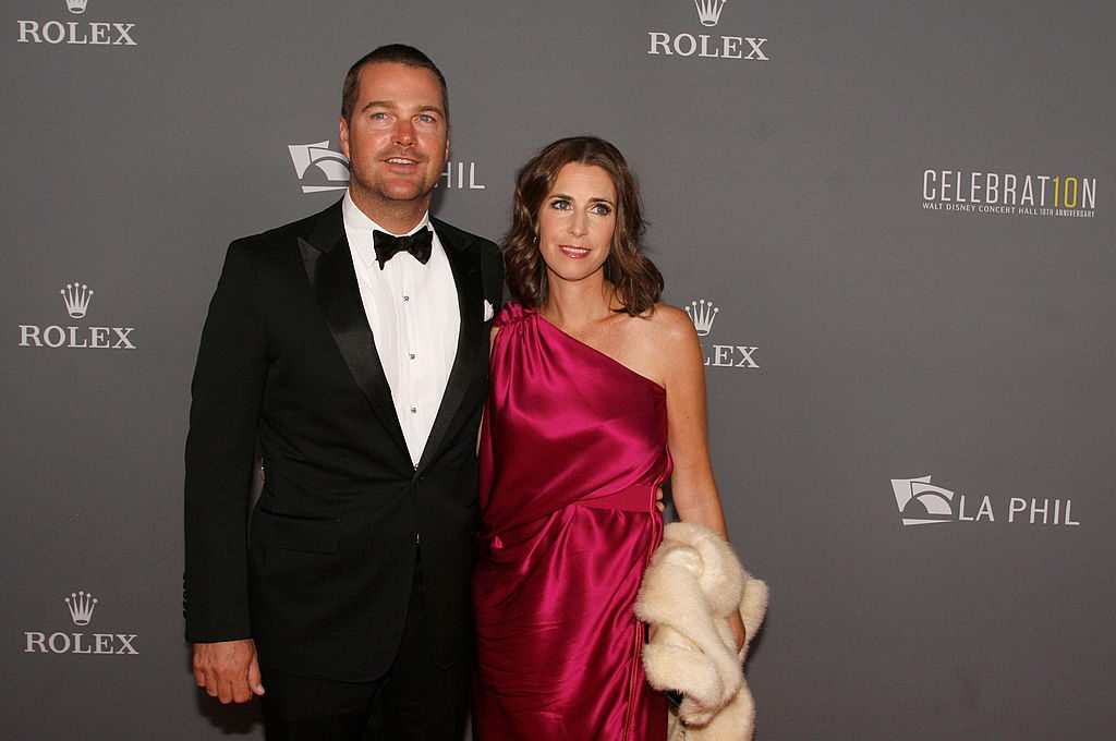 Chris O'Donnell and Caroline Fentress |  Mathew Imaging/WireImage
