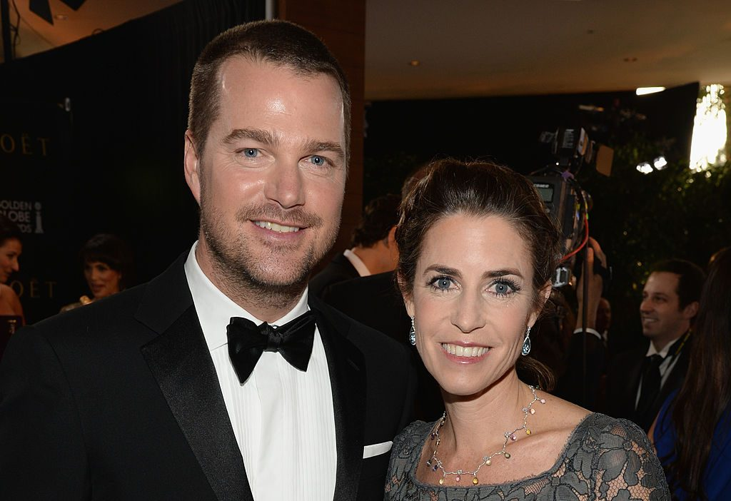 Chris O'Donnell and Caroline Fentress |  Michael Kovac/Getty Images for Moet & Chandon