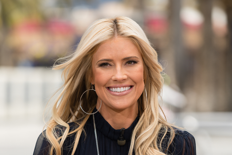 Christina Anstead on the set of 'Extra'