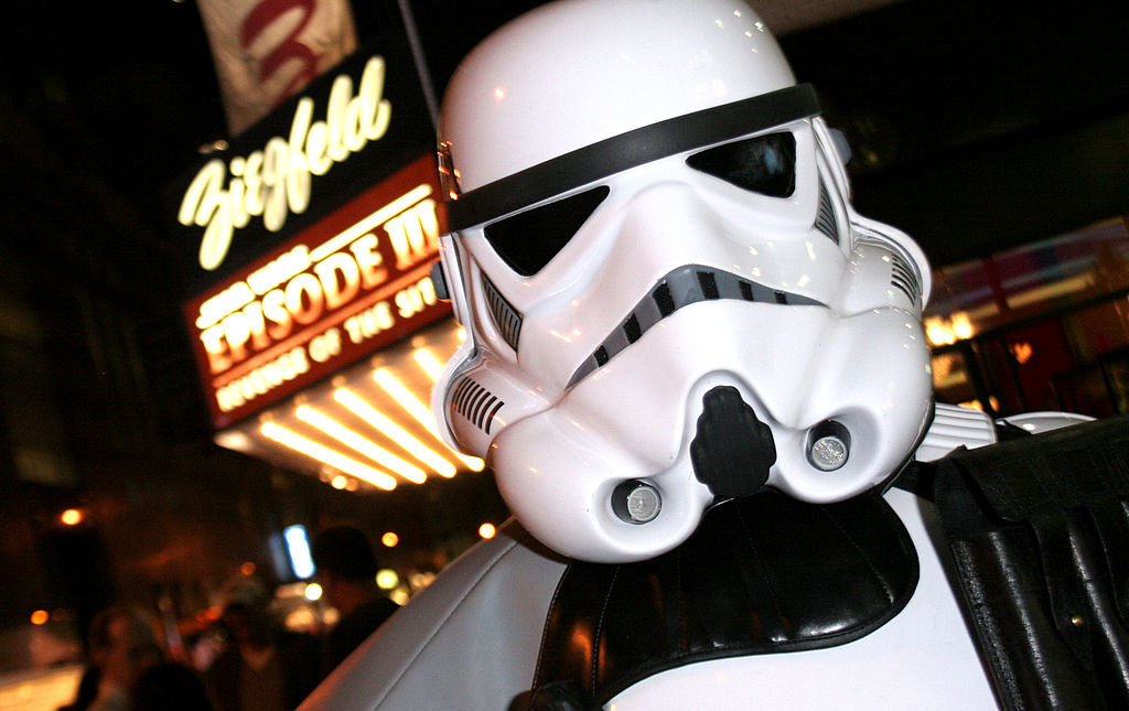 A Clone Trooper at the 'Star Wars: Episode III - Revenge of the Sith' New York City Opening Night.