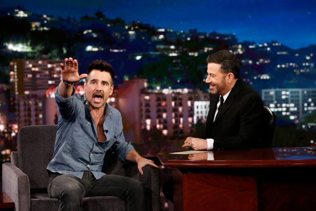 Collin Farrell on the set of 'Jimmy Kimmel Live'