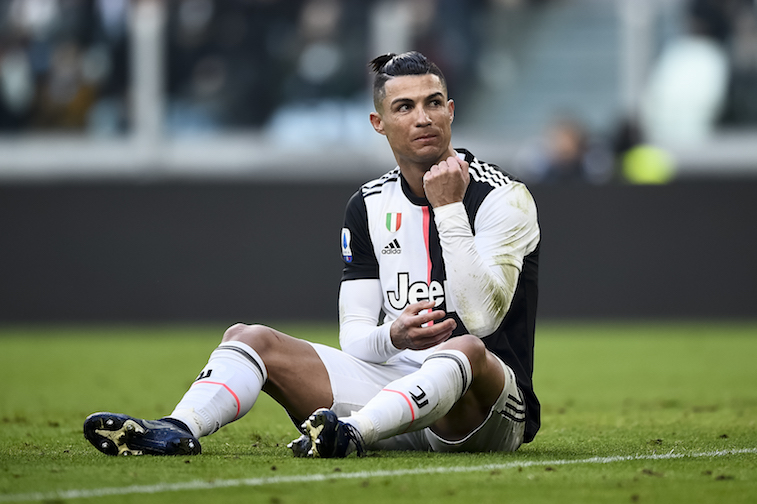 Cristiano Ronaldo on the soccer field