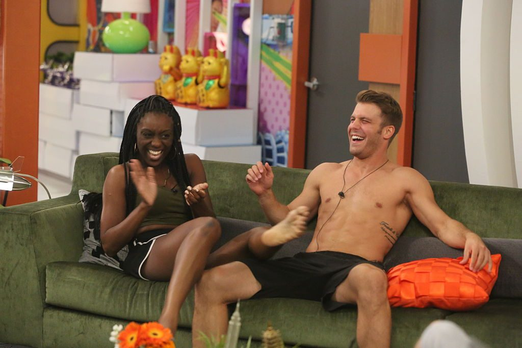 D'Alene Rogers and Paulie Calafiore on the CBS series 'Big Brother'
